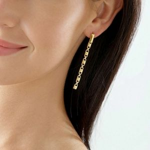Michael Kors Mercer Link Chain Gold Earrings